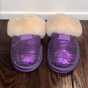 UGG sparkly purple slippers
